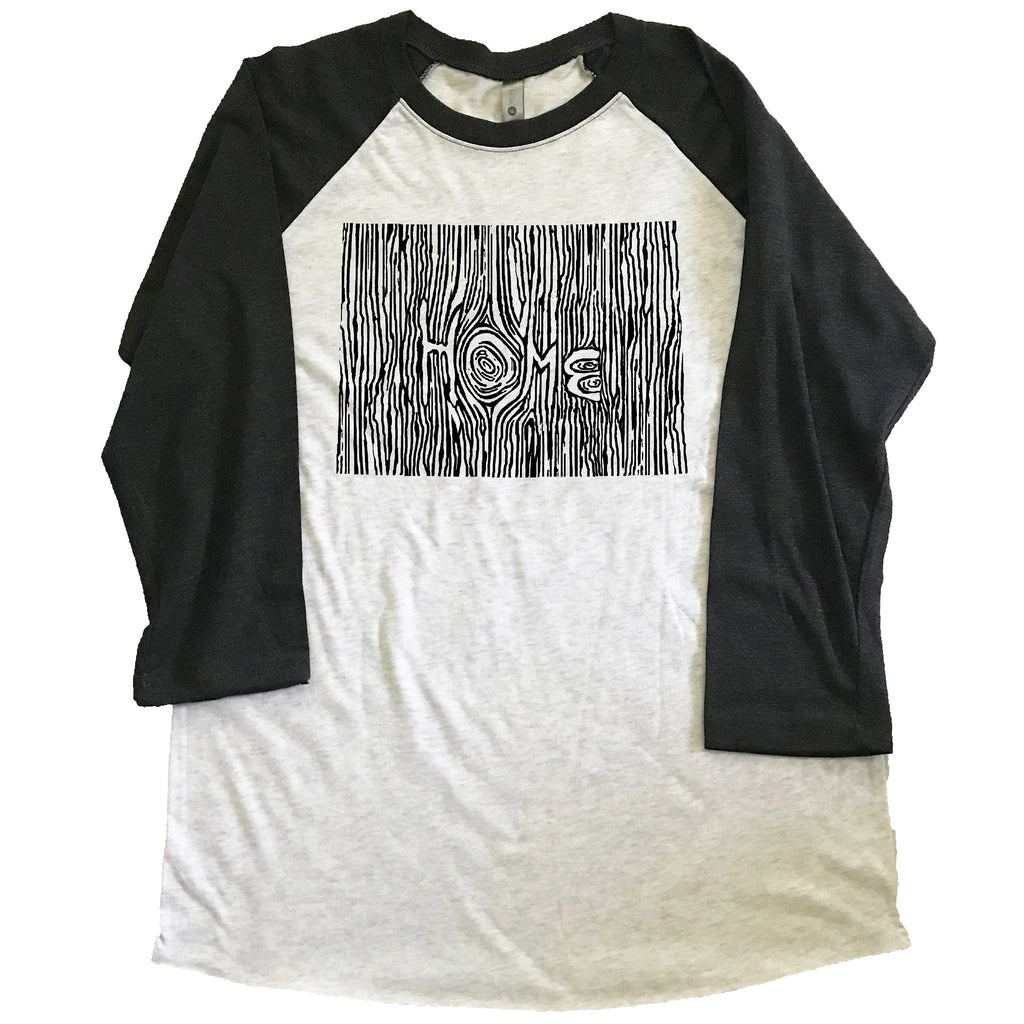 Colorado Ingrained State Unisex Triblend Raglan Baseball T-shirt