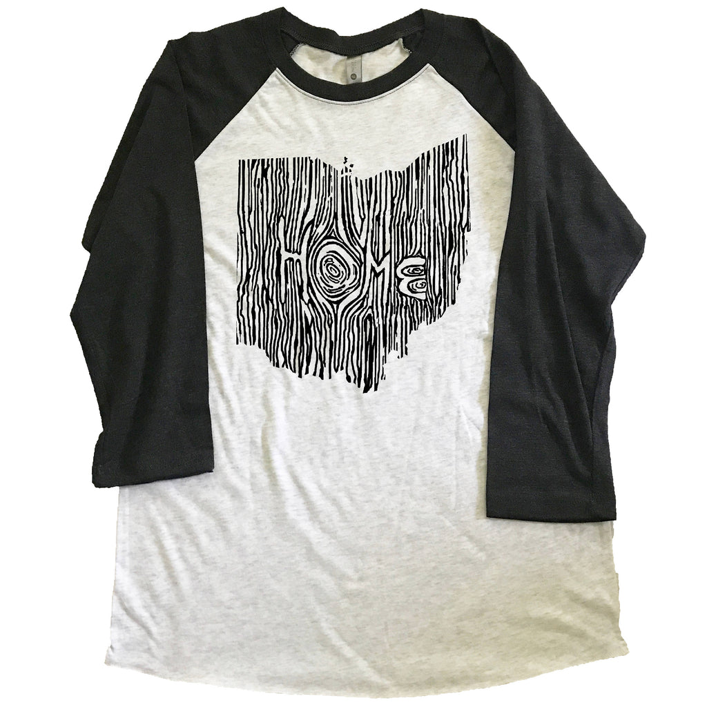 Ohio Ingrained State Unisex Triblend Raglan Baseball T-shirt