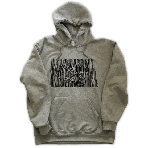 North Dakota Ingrained State Hoodie Sweatshirt