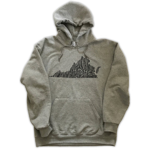 Virginia Ingrained State Hoodie Sweatshirt