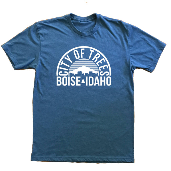 Boise Idaho City of Trees Arch Unisex T-Shirt