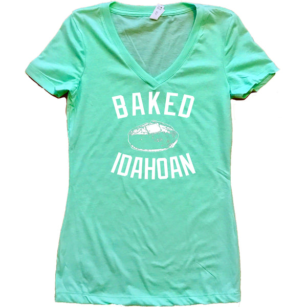 Baked Idahoan Women's V-Neck Shirt