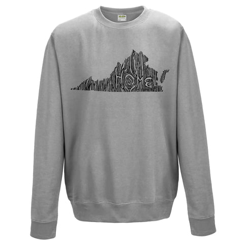Virginia Ingrained State Crewneck Sweatshirt