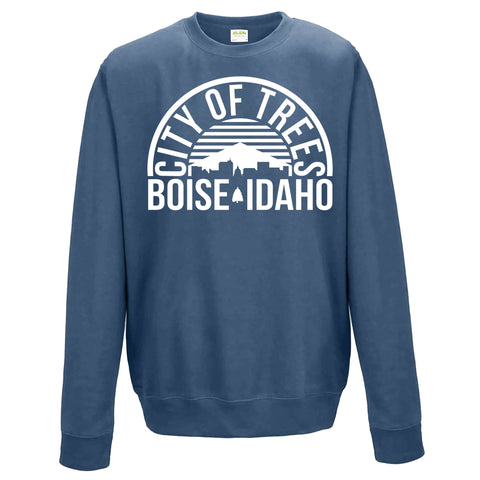Boise Idaho City Of Trees Arch Unisex Crewneck Sweatshirt