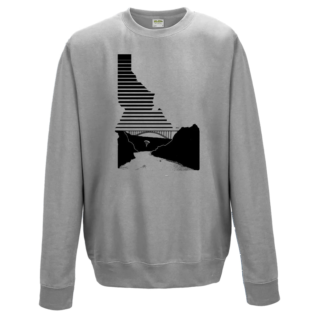 Perrine Bridge Twin Falls Idaho Fade Unisex Crewneck Sweatshirt