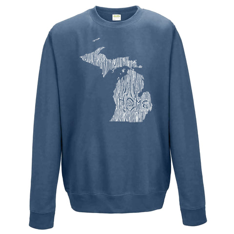 Michigan Ingrained State Crewneck Sweatshirt