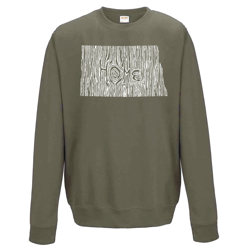 North Dakota Ingrained State Crewneck Sweatshirt