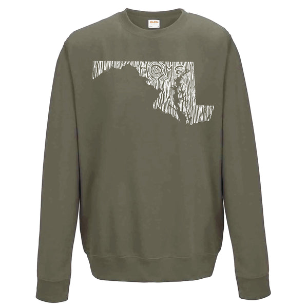 Maryland Ingrained State Crewneck Sweatshirt
