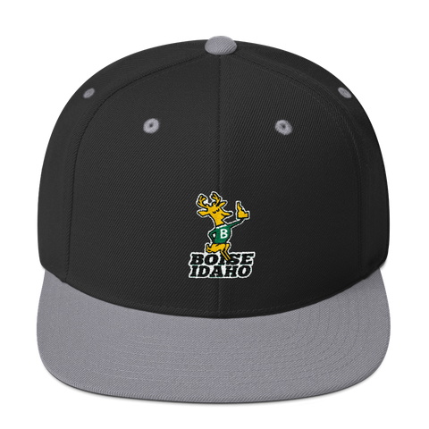 Boise Idaho Buck Retro Snapback Hat