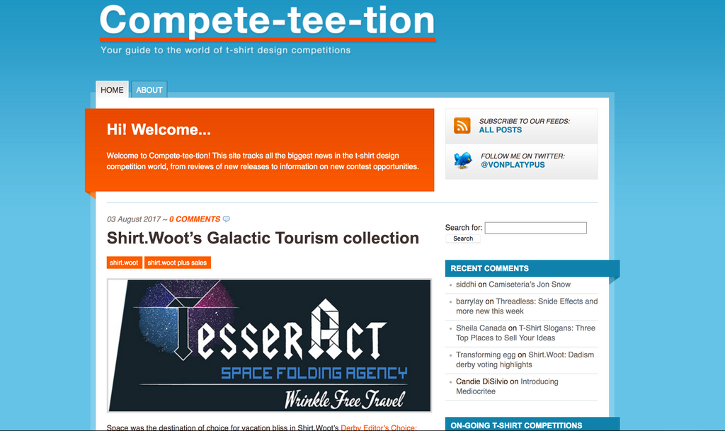 Compe-tee-tion online list of tshirt competitions
