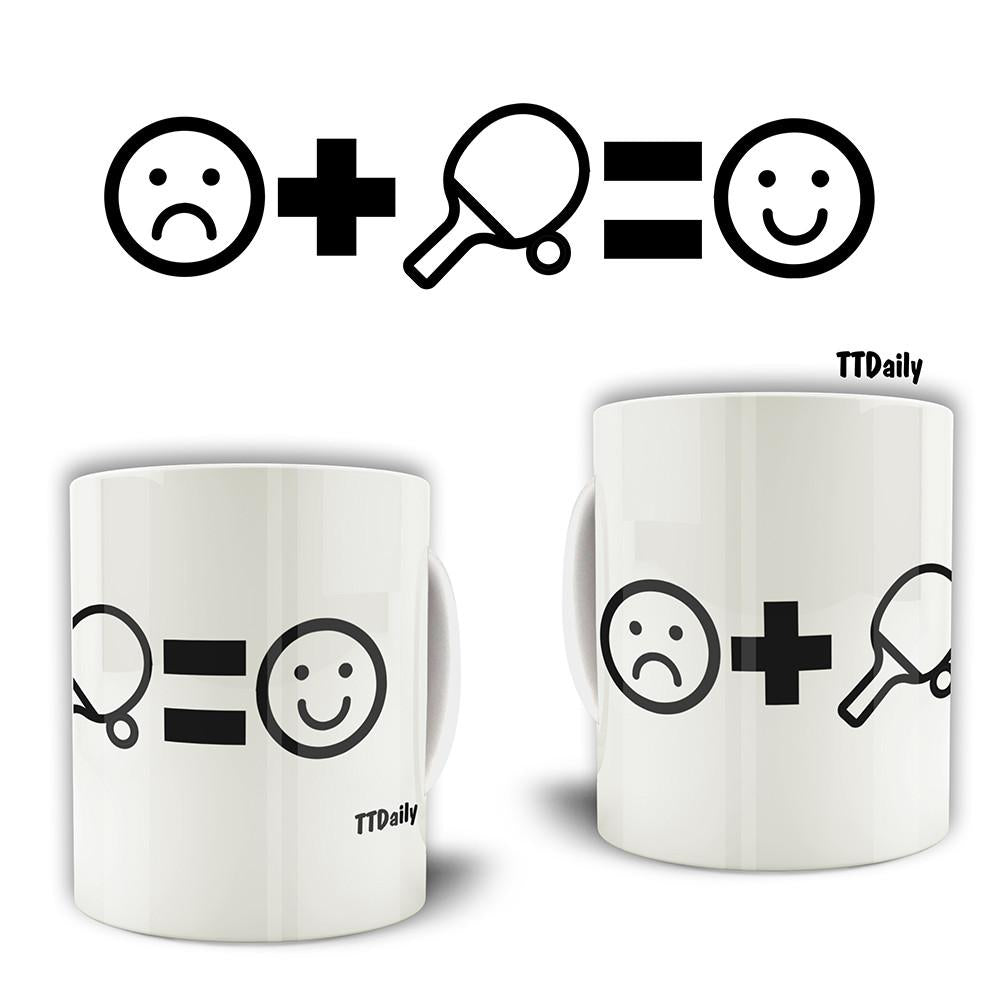 Table Tennis Mug Ping Pong Makes You Happy Coffee Tea Cup