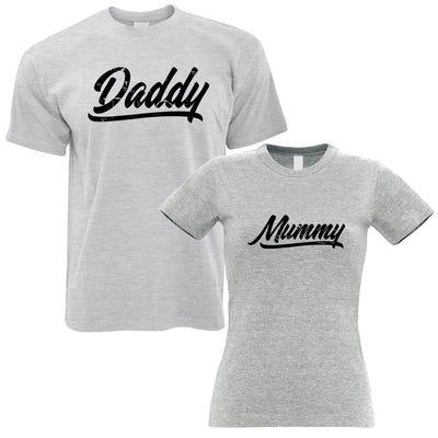 Valentines T-Shirts Couples Pack Mummy And Daddy Pack