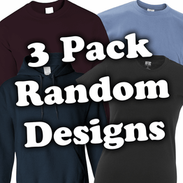 3 Pack of Random Designs