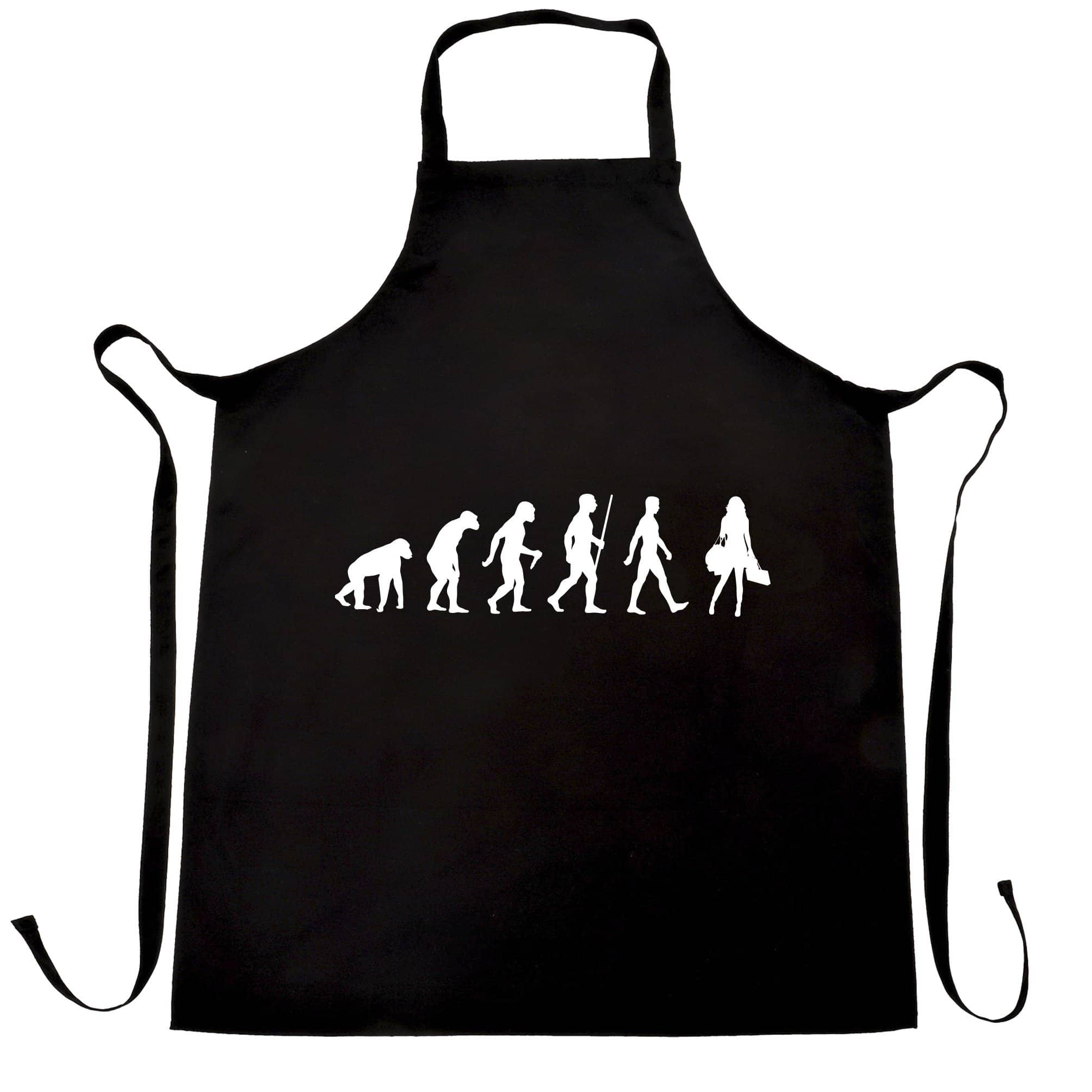 Joke Chef's Apron The Evolution of Shopping