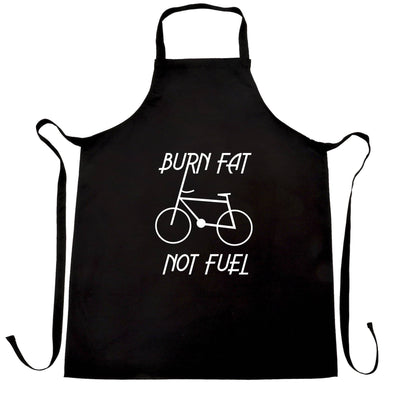 Eco Friendly Chefs Apron Burn Fat, Not Fuel - Cycle Logo