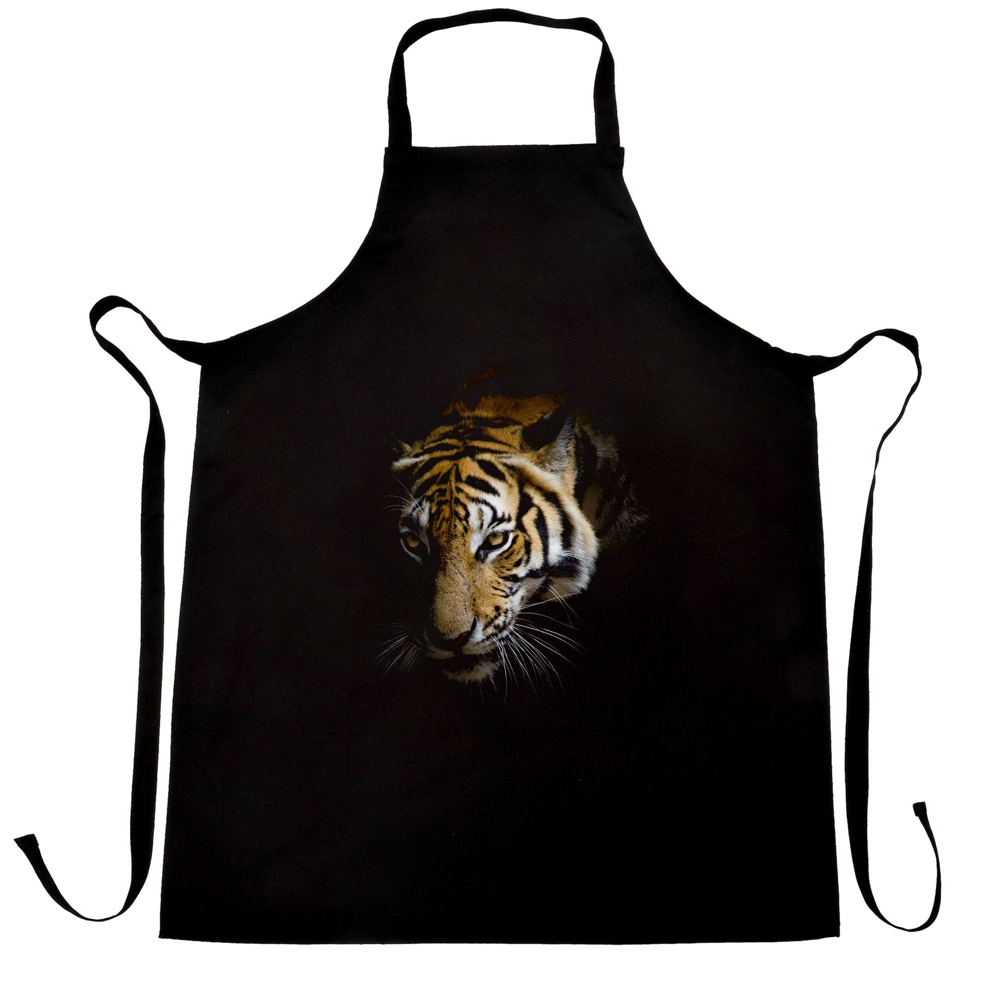 Tiger Chef's Apron Photographic Animal Head