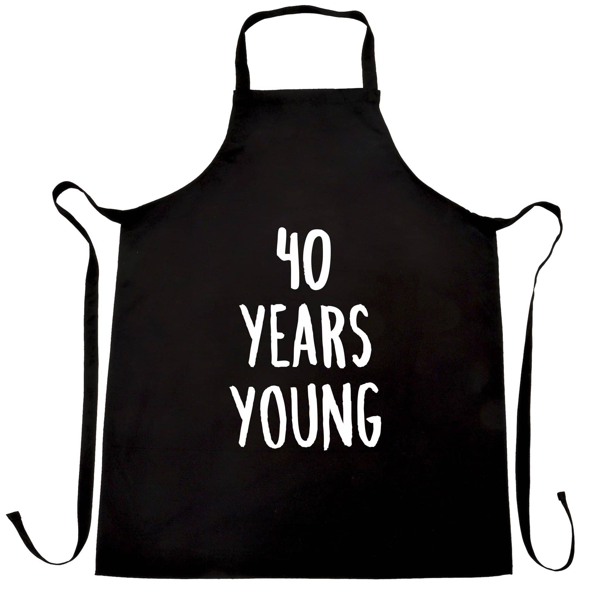 40th Birthday Joke Chef's Apron 40 Years Young Novelty Text