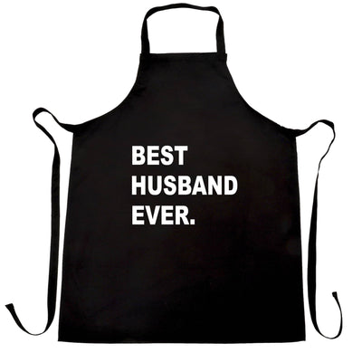 Best Husband Ever Chef's Apron Marriage Family Slogan
