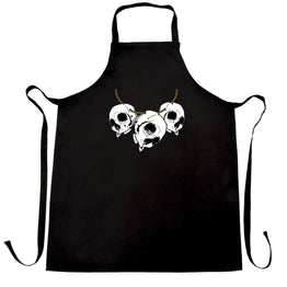 Voodoo Chefs Apron Three Skull Necklace Tribal Art