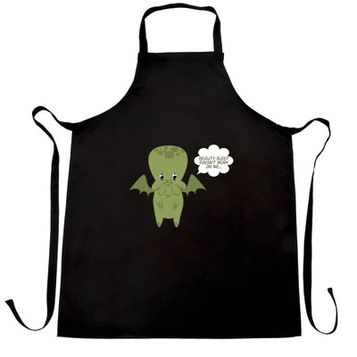 Cute Cthulhu Chef's Apron Beauty Sleep Doesn't Work On Me