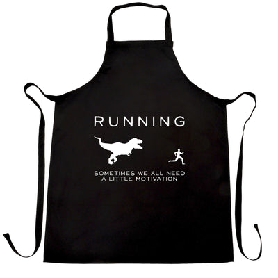 Running Chefs Apron Just Need Motivation T-Rex