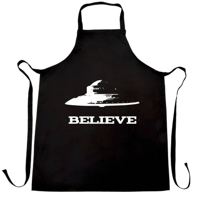 Alien Chef's Apron Believe in UFO Flying Saucers