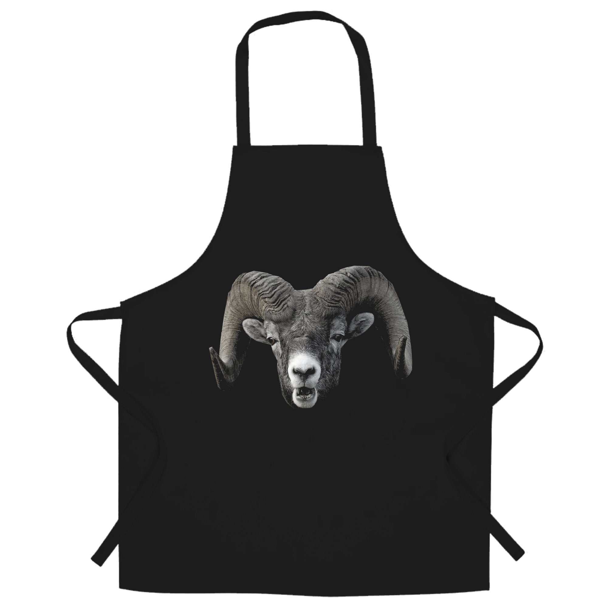 Ram Face Chef's Apron Cool Horned Goat Head