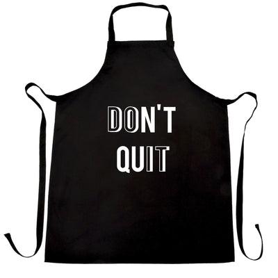 Motivational Chef's Apron Don't Quit, Do It Slogan