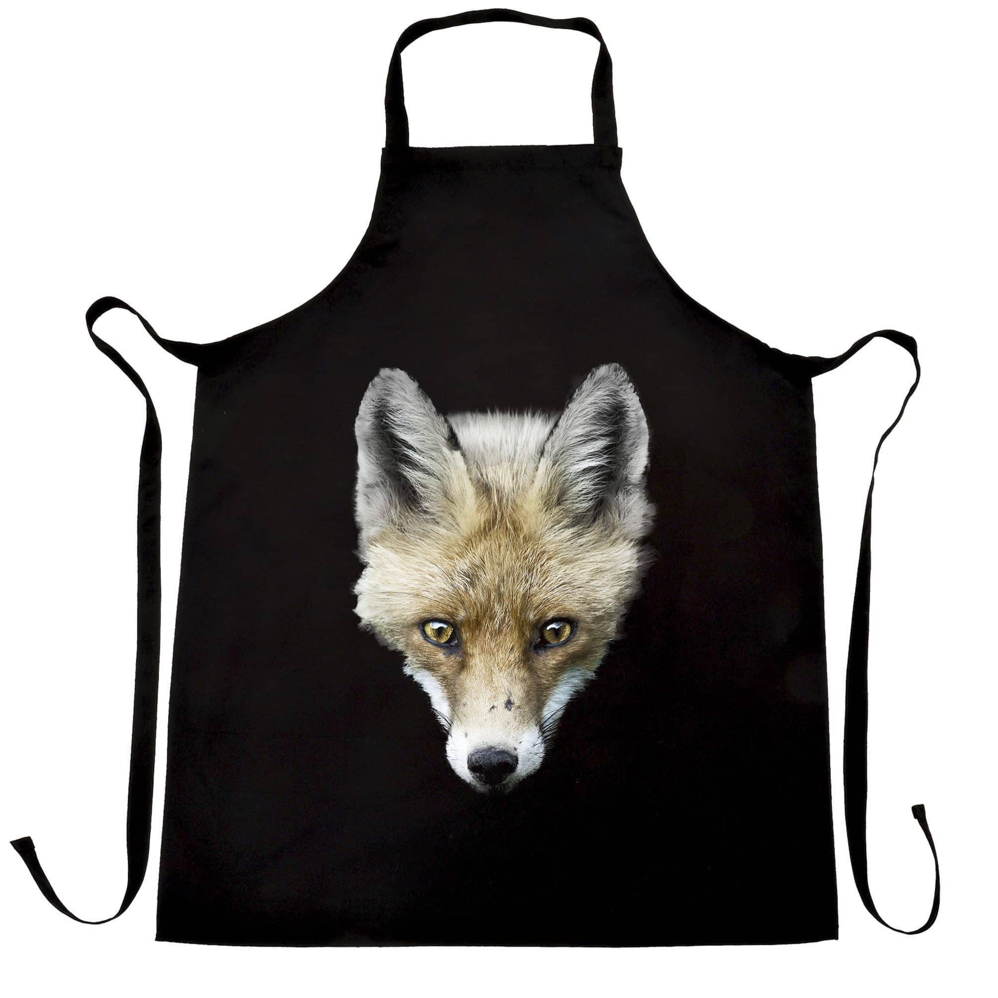 Fox Chef's Apron Photographic Animal Head Design