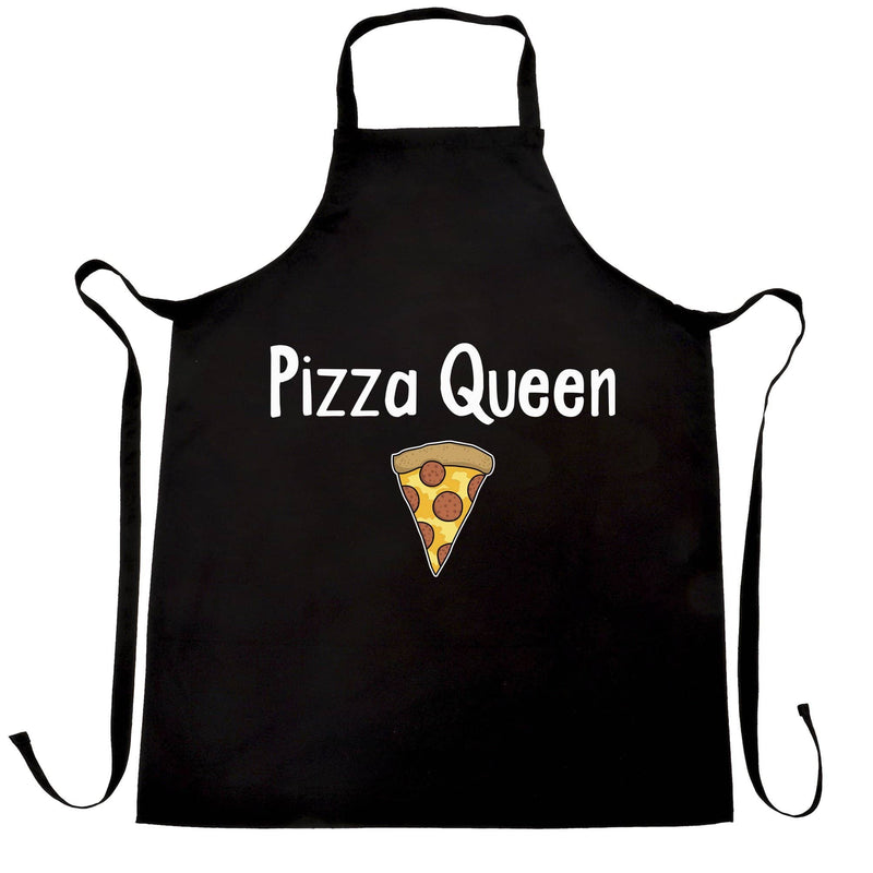 Funny Food Chefs Apron Pizza Queen Slogan With Slice