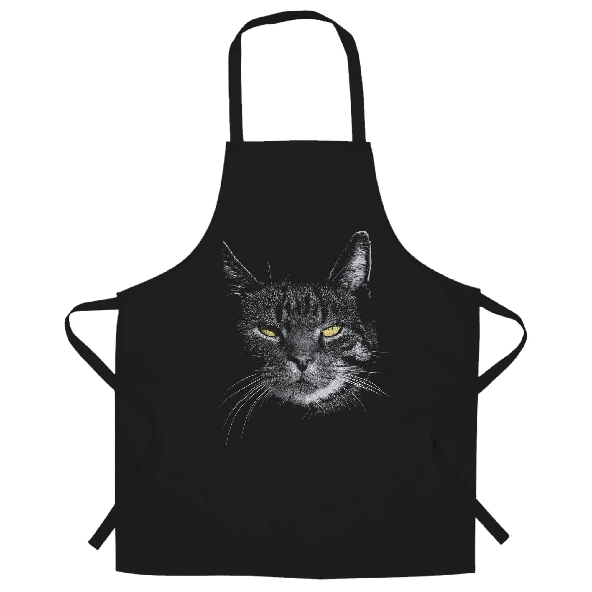 Cat Face Chef's Apron Cute Feline Head Photo