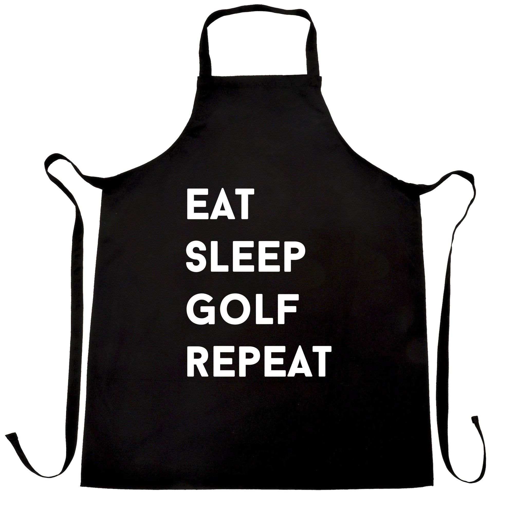 Sports Chef's Apron Eat, Sleep, Golf, Repeat Slogan
