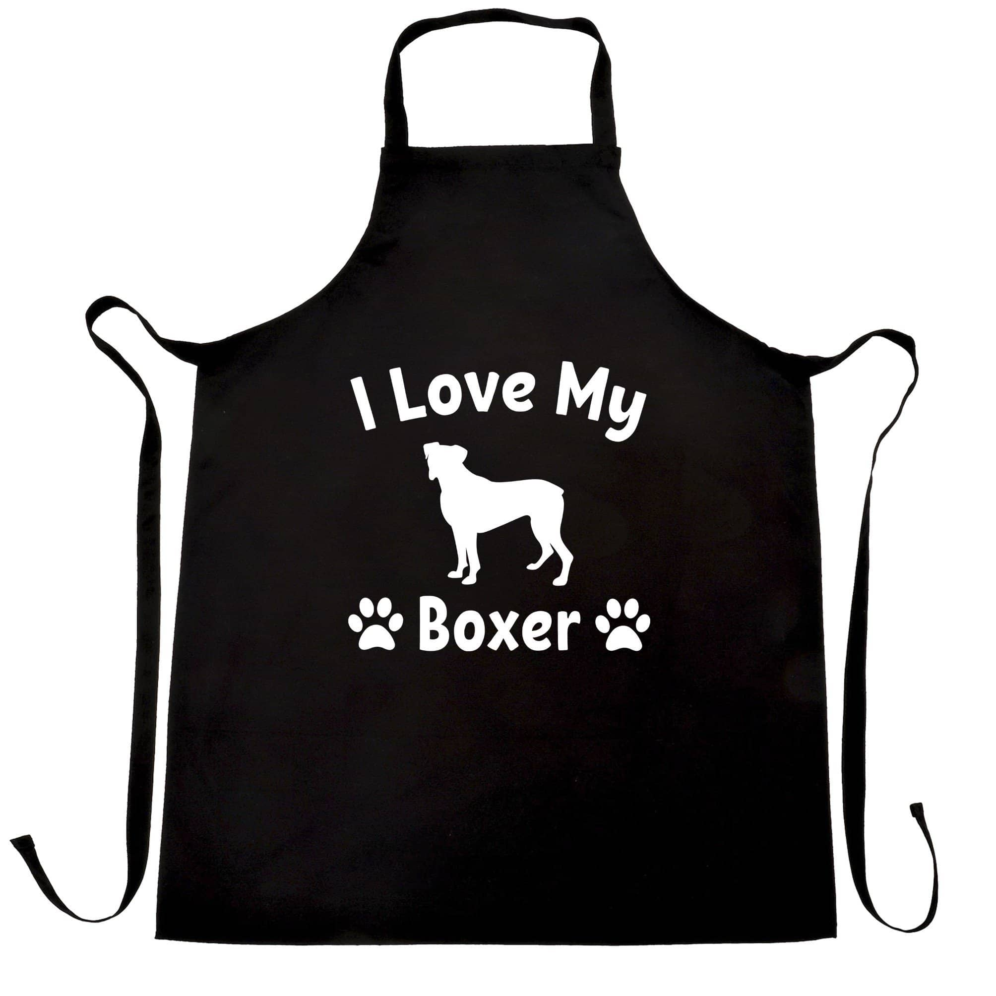 Dog Owner Chef's Apron I Love My Boxer Dog Owner