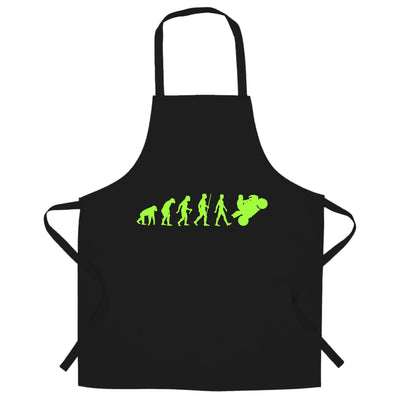 Motorcycle Chef's Apron Neon Green Evolution of a Biker