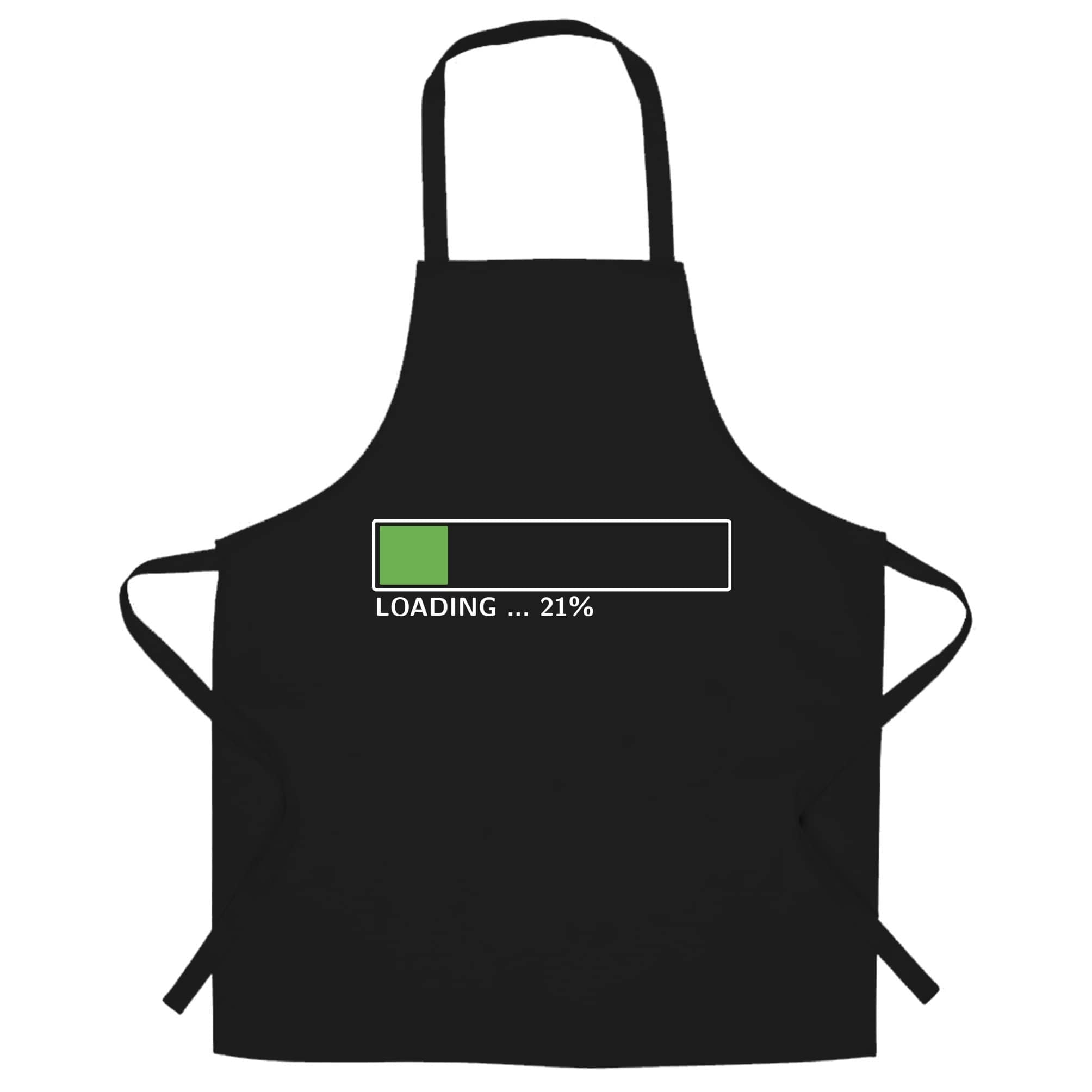 21st Birthday Chef's Apron Loading 21% Complete Twenty One