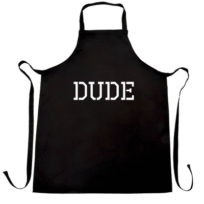 Novelty Chef's Apron With Just The Word Dude