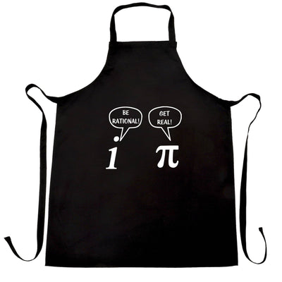 Funny Math Chefs Apron Be Rational! Get Real! Argument
