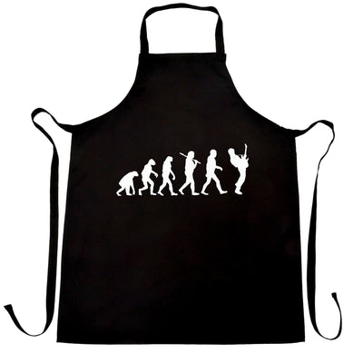 Musician Chef's Apron Evolution Of A Guitarist