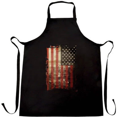 4th Of July Chef's Apron Distressed USA American Flag Art