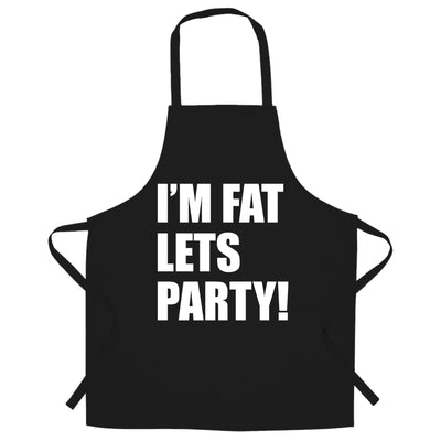 Novelty Chef's Apron I'm Fat, Let's Party Slogan