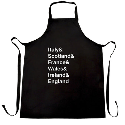 The Six Nations Chef's Apron Italy, Scotland, France