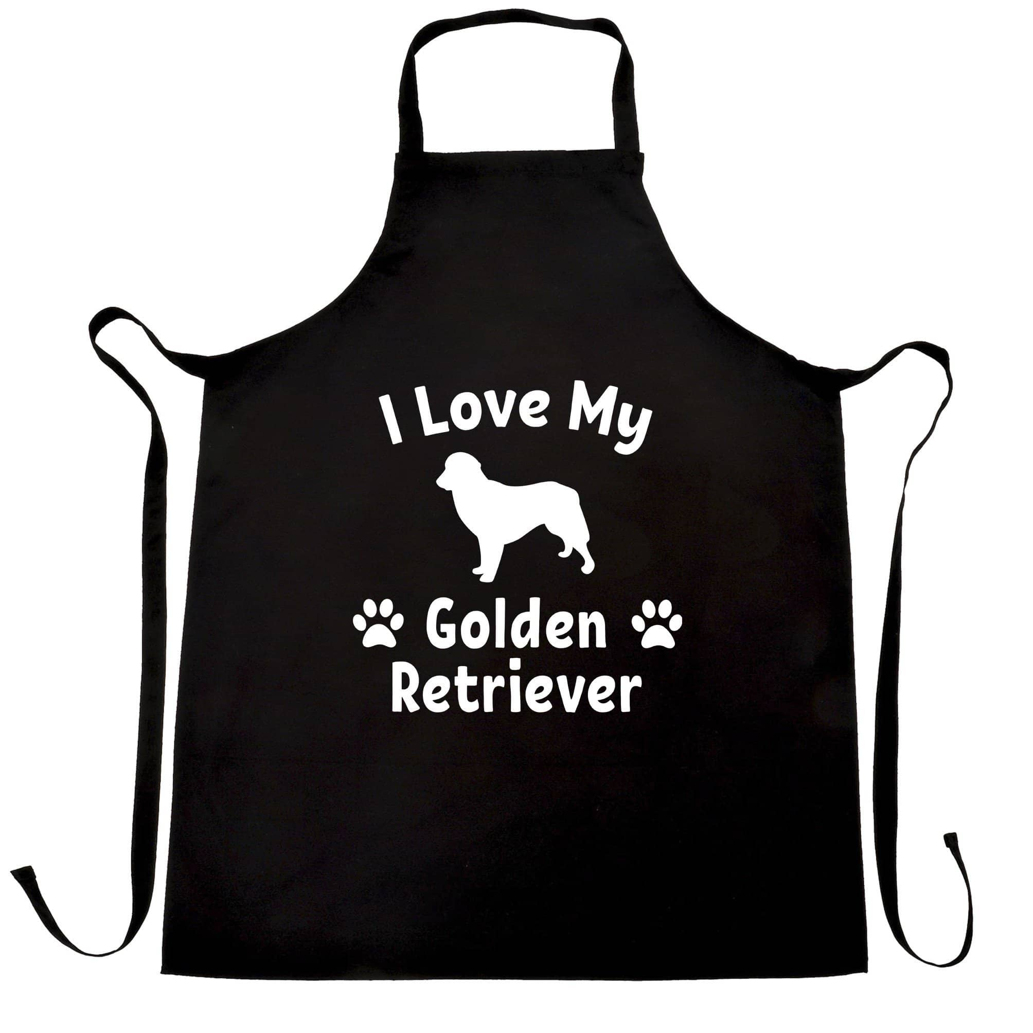 Dog Owner Chef's Apron I Love My Golden Retriever