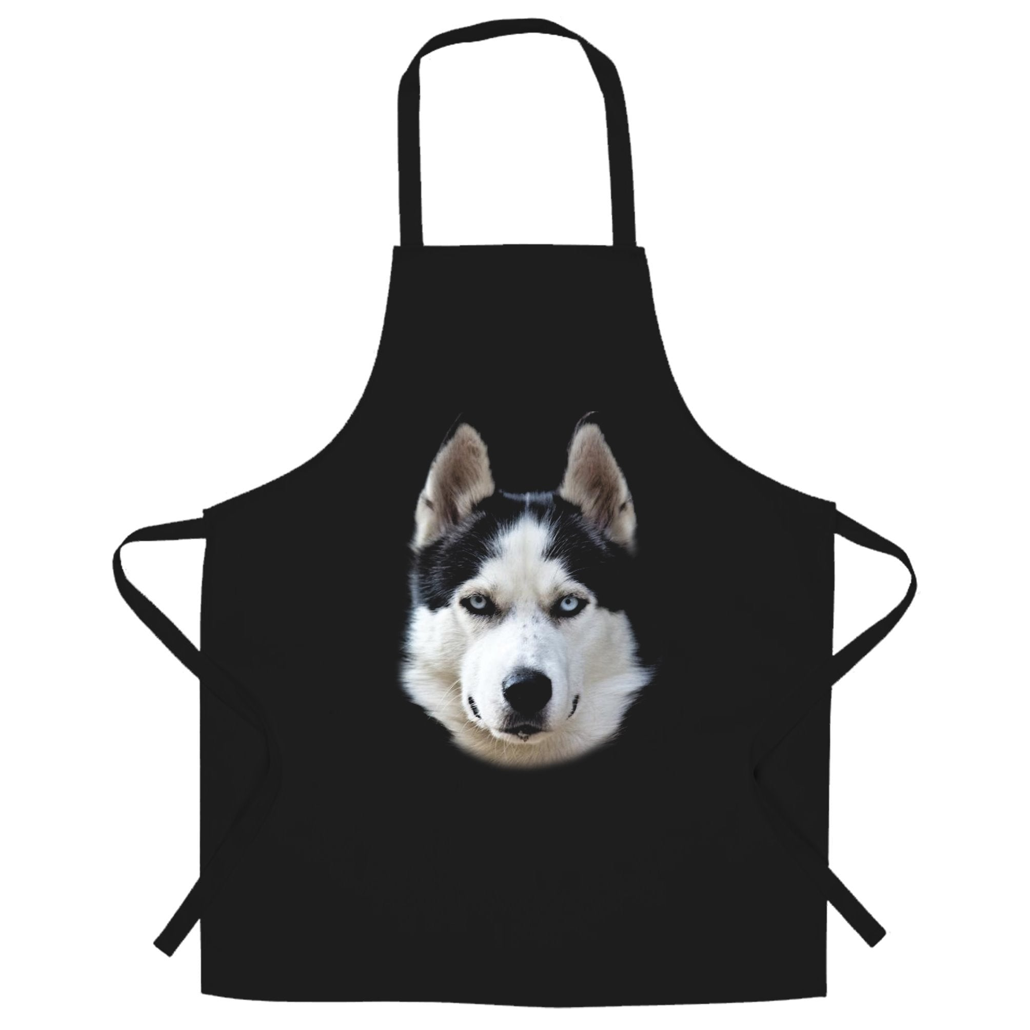 Husky Face Chef's Apron Cute Dogs Head Photo