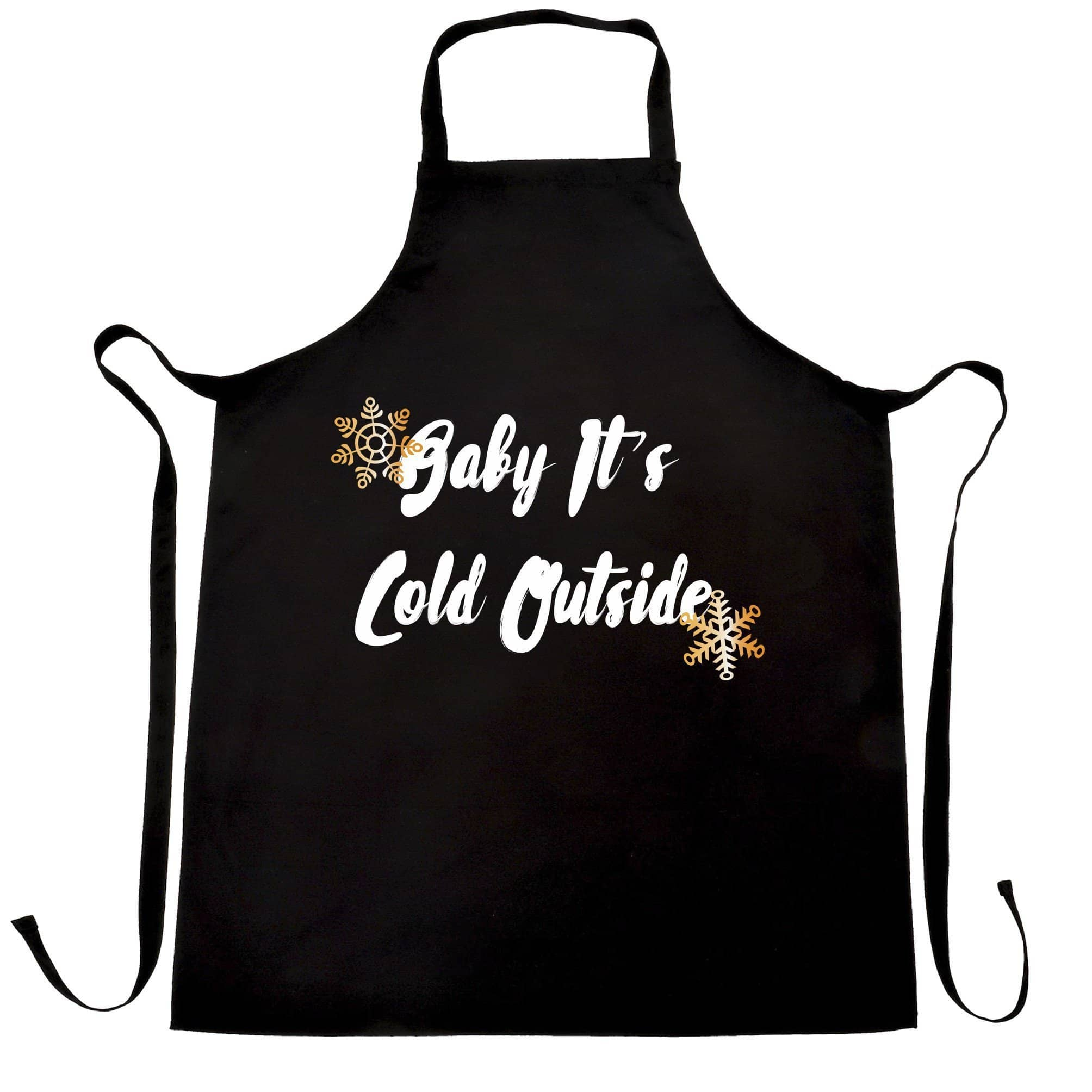 Christmas Chef's Apron Baby, It's Cold Outside Slogan