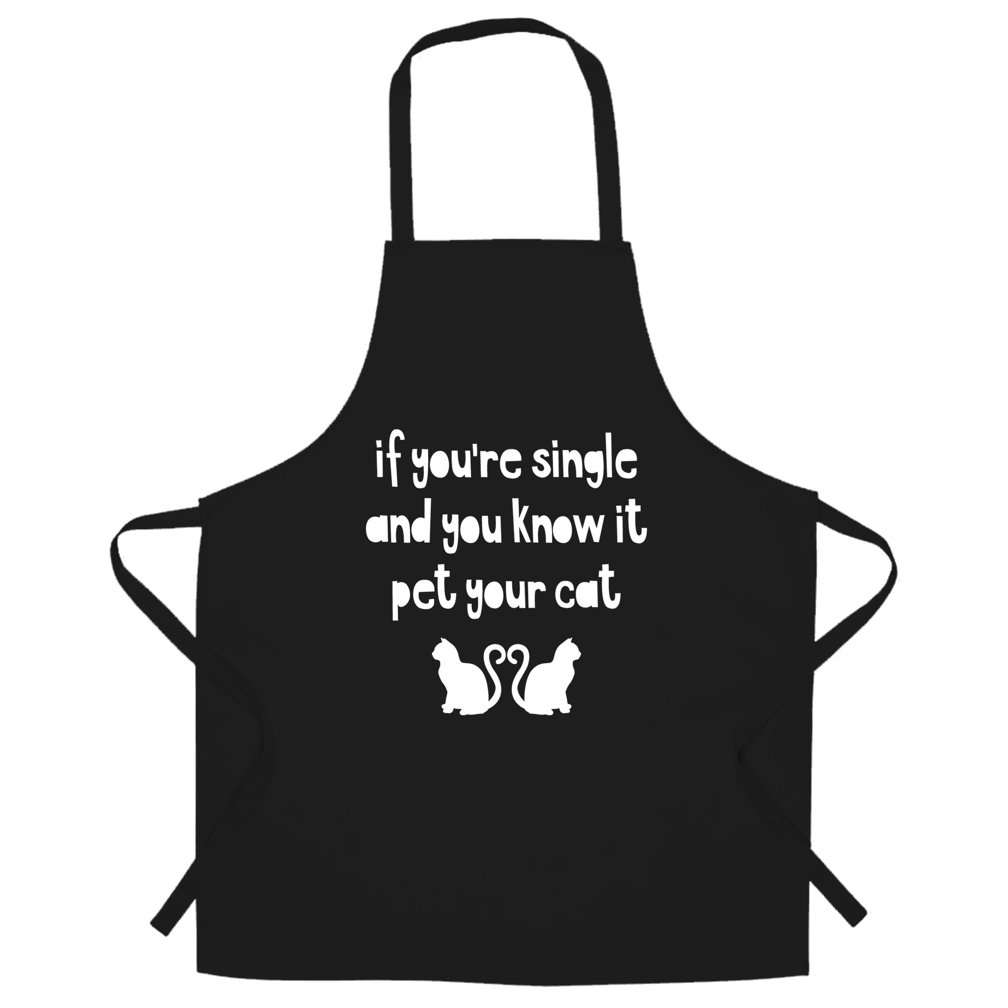Valentines Chef's Apron Single And You Know It Joke