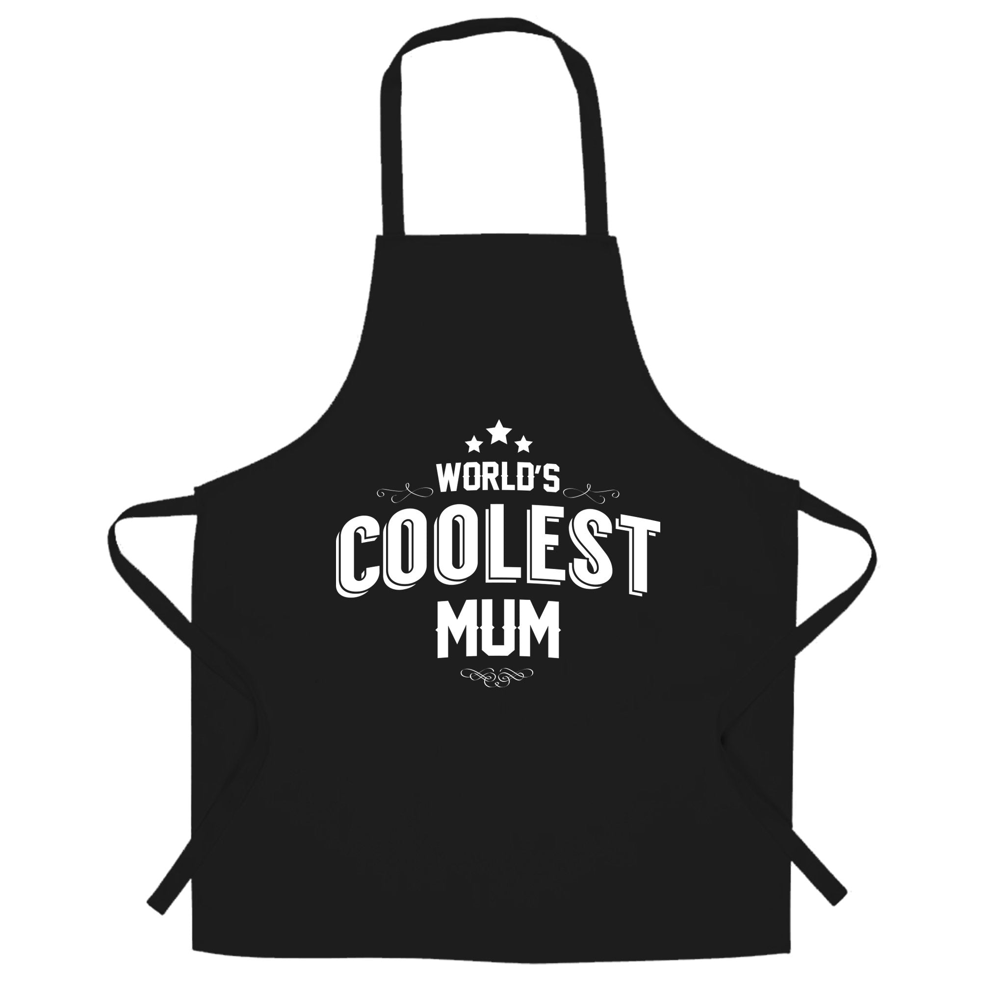 Novelty Chef's Apron Worlds Coolest Mum Slogan
