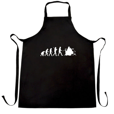 Musician Chef's Apron Evolution Of A Drummer