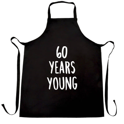60th Birthday Joke Chef's Apron 60 Years Young Novelty Text