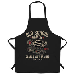 Gaming Chefs Apron Old School Gamer Retro Videogame Arcade