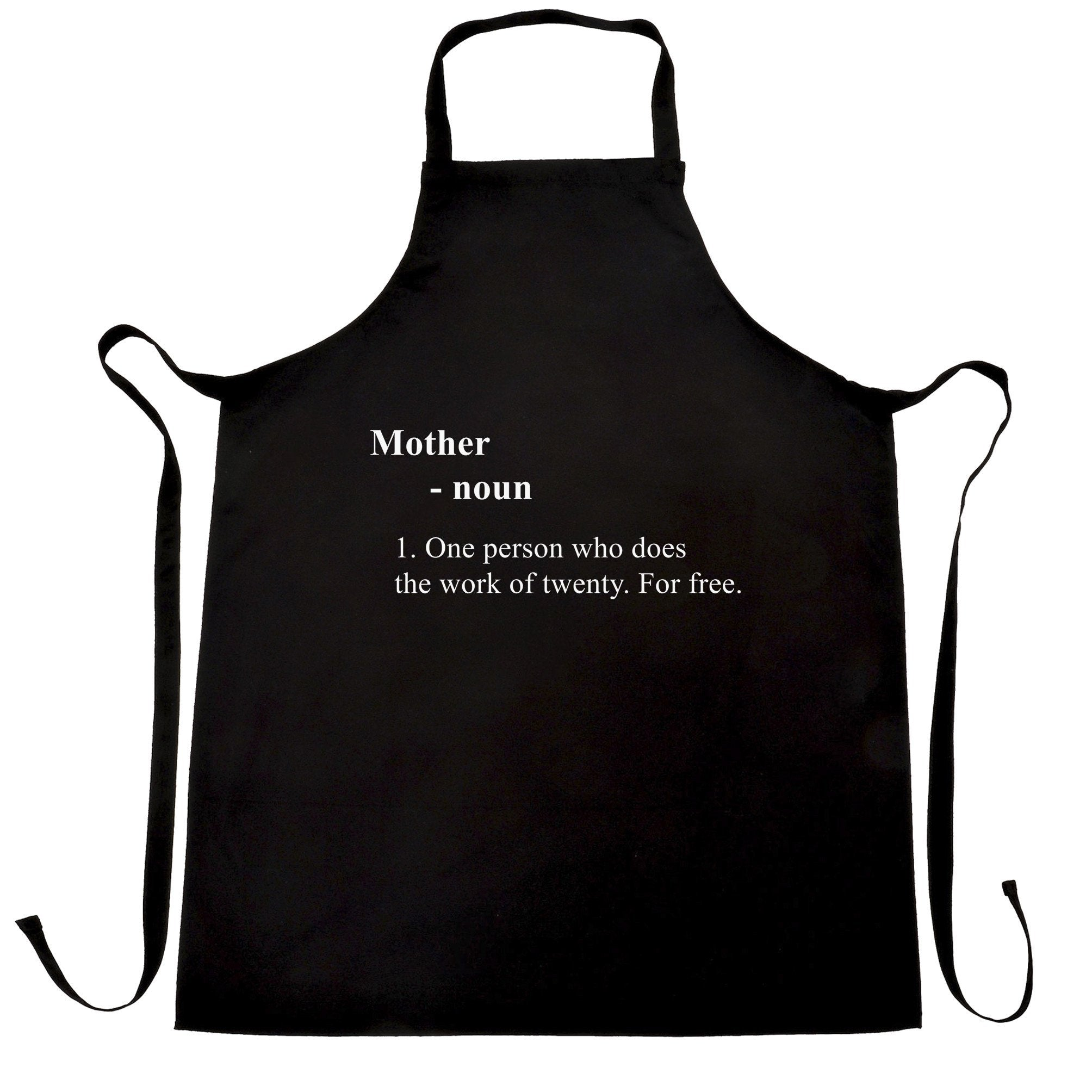 Mother's Day Chef's Apron Novelty Dictionary Definition